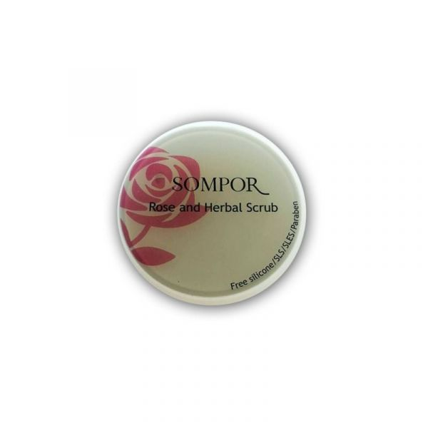 Rose and herbal scrub